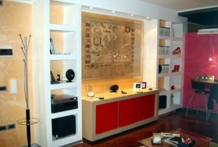 Tramezzi e pareti attrezzate in cartongesso